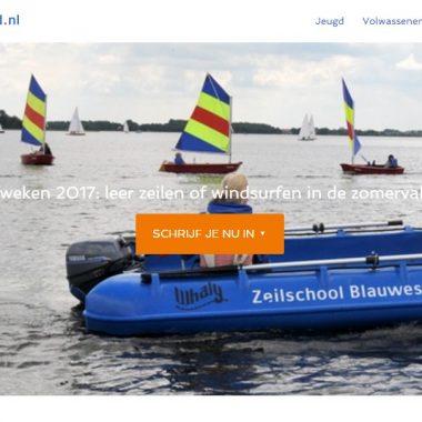 Nieuwe website Zeilschool Blauwestad